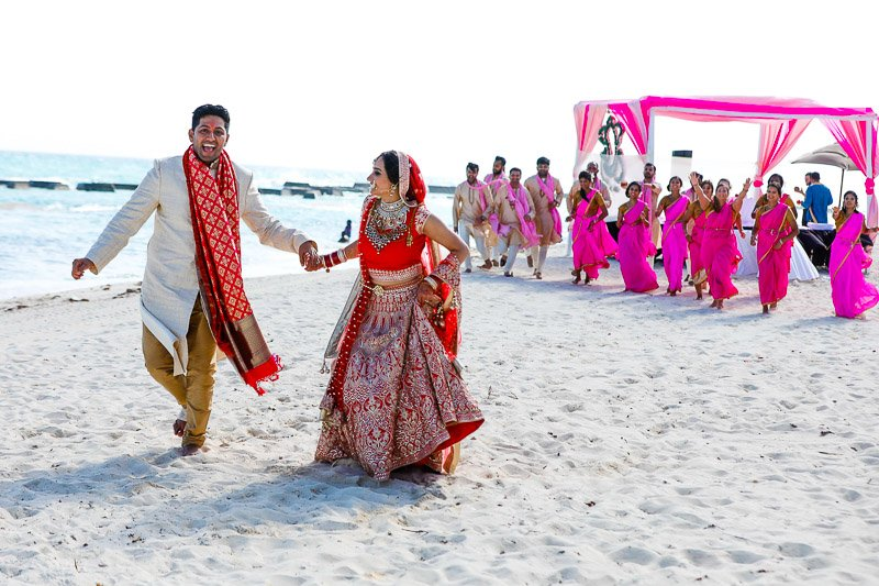 kinjal chandan - indian cancun beach wedding - el dorado generations riviera maya mexico - rahul rana photography