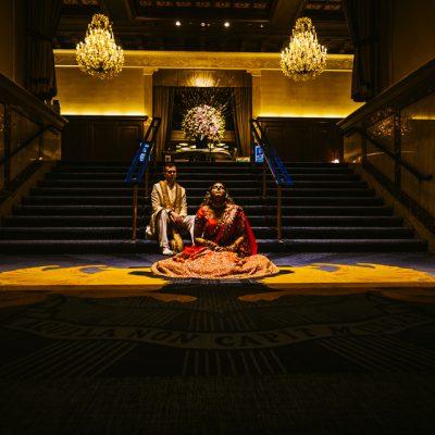 Hajerah Kyle | Chandelier Lobby | Drake Hotel Chicago | Fusion Wedding | Rahul Rana Photography