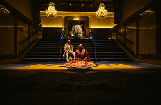 Hajerah Kyle | Chandelier Lobby | Drake Hotel Chicago | Fusion Wedding | Rahul Rana Photography