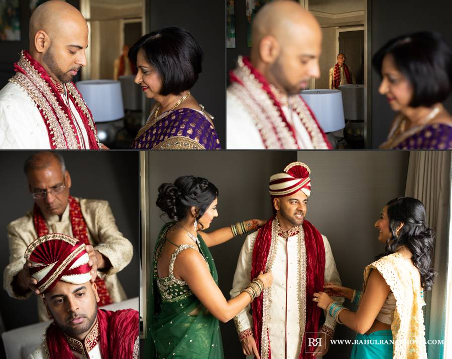 Ritz Carlton Tysons Corner DC - Groom Family Getting Ready - Rahul Rana Photography