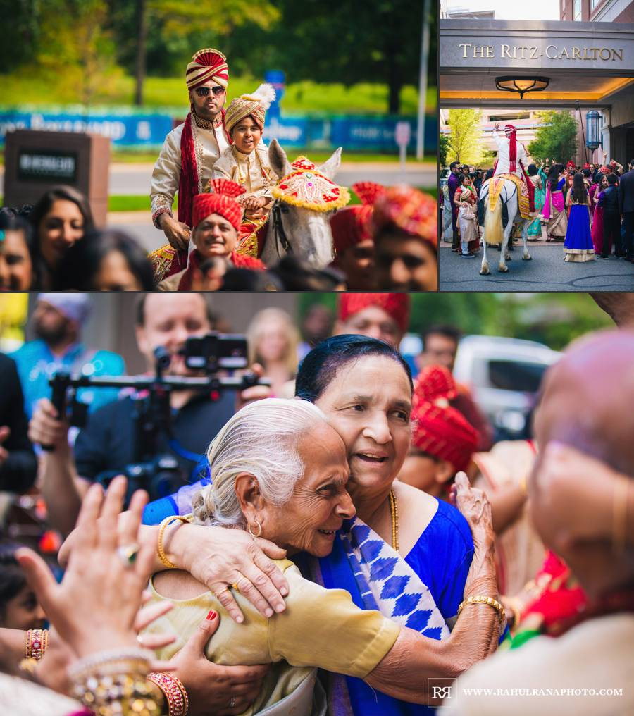 Ritz Carlton Tysons Corner - Virginia Indian Baraat - Rahul Rana Photography