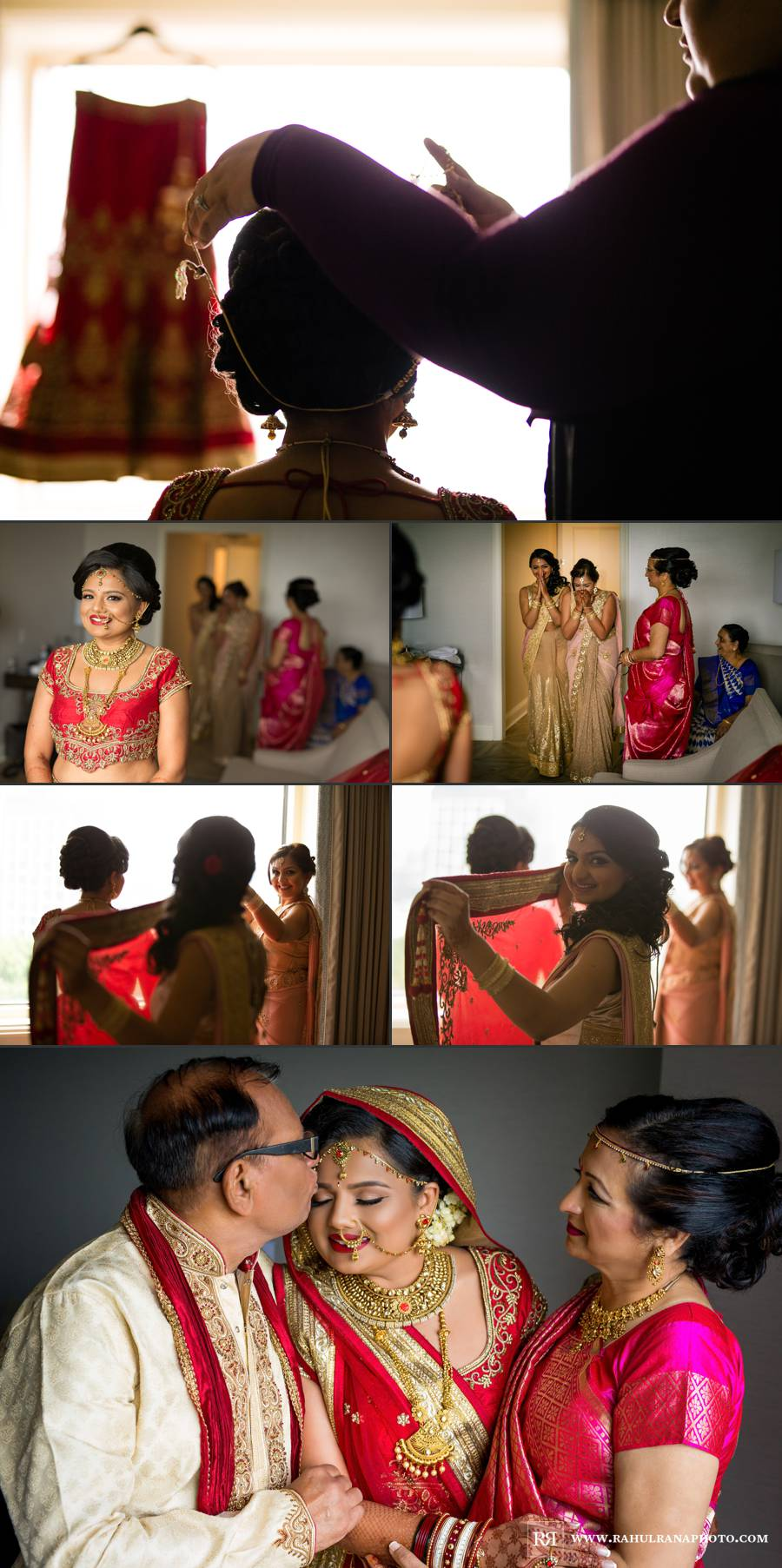 Ritz Carlton Tysons Corner - Virginia Indian Bride Sisters Getting Ready - Rahul Rana Photography