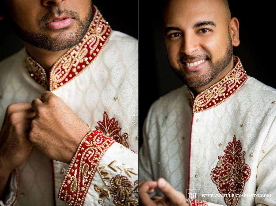 Ritz Carlton Tysons Corner - Virginia Indian Groom Getting Ready - Rahul Rana Photography