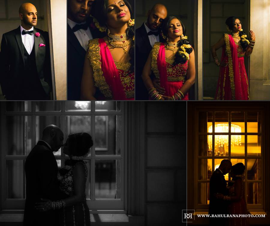Ritz Carlton Tysons Corner - Virginia Reception Couple Portraits - Rahul Rana Photography