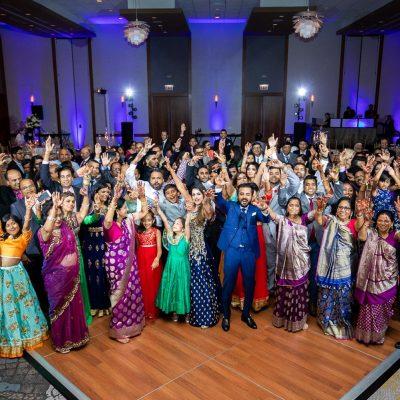 Westin North Shore - Wheeling Indian Wedding - Family Guests Dance Floor - Rahul Rana Photo