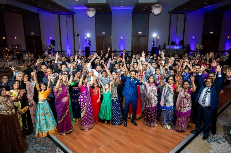 Westin North Shore - Wheeling Indian Wedding - Family Guests Dance Floor - Rahul Rana Photo