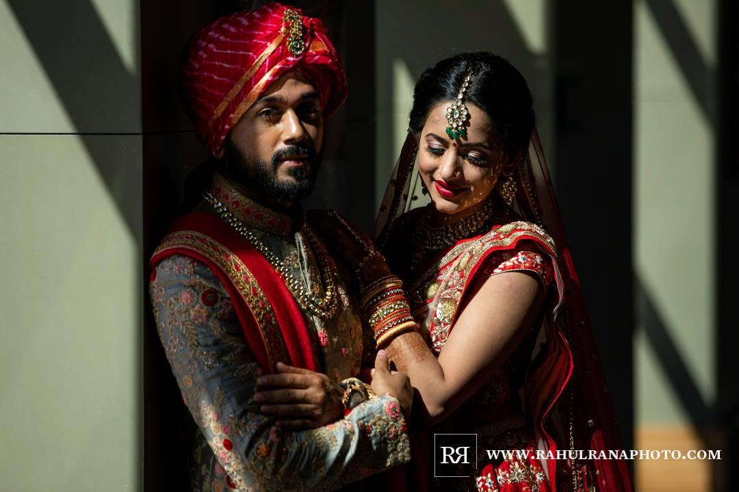 Westin North Shore - Wheeling Indian Wedding - Bride Groom Portrait - Rahul Rana Photo