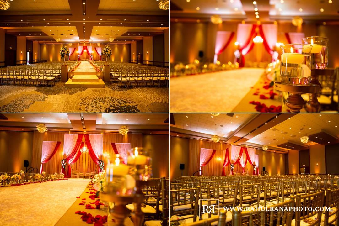 Westin North Shore - Wheeling Indian Wedding - Ceremony Shaadi Creations Decor - Rahul Rana Photo