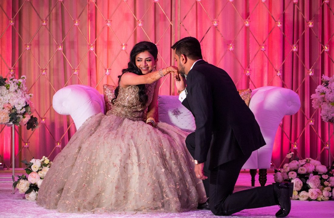 Urvi Chintan - Pearl Banquets Roselle - Indian Vidhi Wedding Reception - Rahul Rana Photography