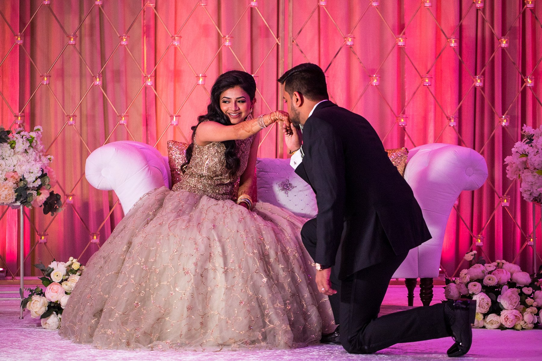 Urvi Chintan - Pearl Banquets Roselle - Indian Vidhi Wedding Reception - Rahul Rana Photography